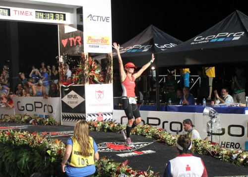 I was so happy to be at Kona and to finish this time!