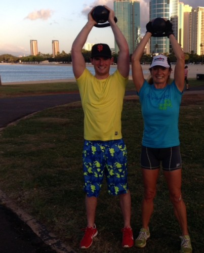 My son, Thomas joined in on a visit to Honolulu in January.  He is one fit guy, but was pretty sore the next day.