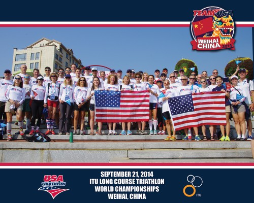 Here is Team USA, nearly 50 teammates strong.  I was honored to race with such a great group of athletes.