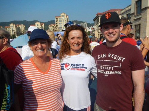 I was so happy to have my son Tom, my friend Cindy and my ever-wonderful husband Rick at the race.